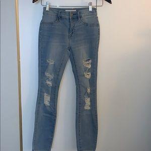 PacSun Distressed Light Blue Jeans 23 S